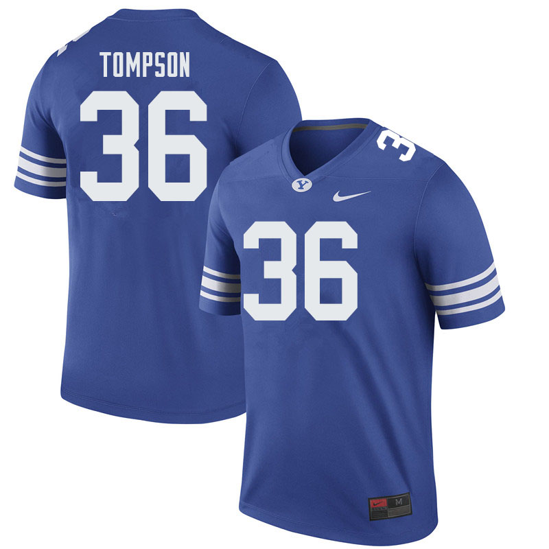Men #36 Colin Tompson BYU Cougars College Football Jerseys Sale-Royal