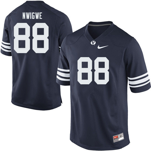 Men #88 JJ Nwigwe BYU Cougars College Football Jerseys Sale-Navy