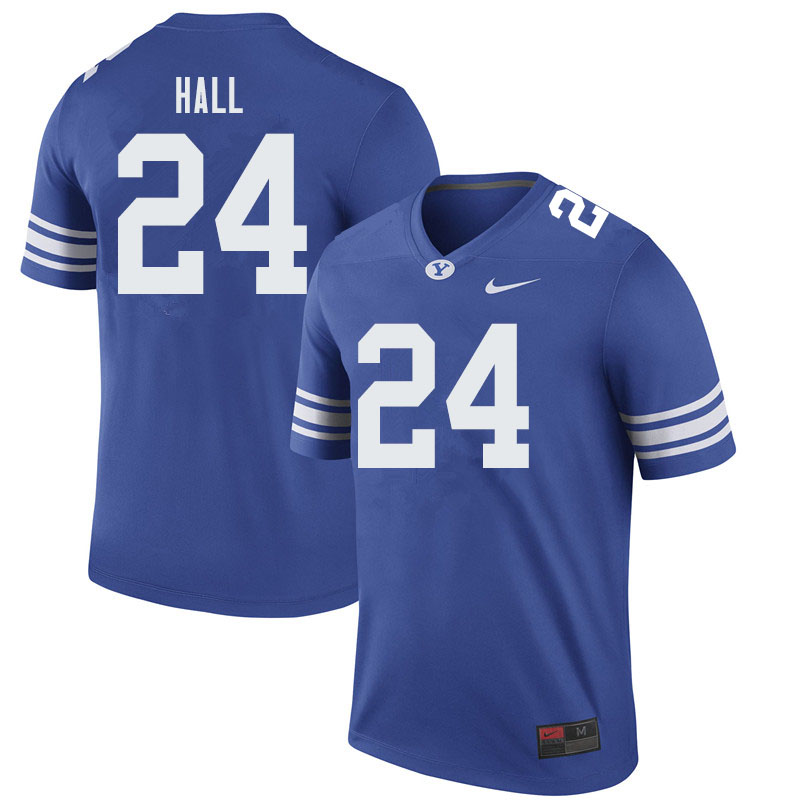 Men #24 KJ Hall BYU Cougars College Football Jerseys Sale-Royal