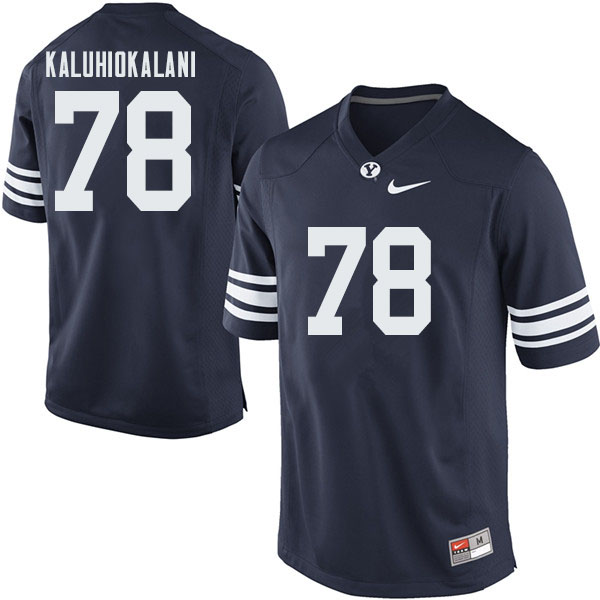 Men #78 Kamalani Kaluhiokalani BYU Cougars College Football Jerseys Sale-Navy