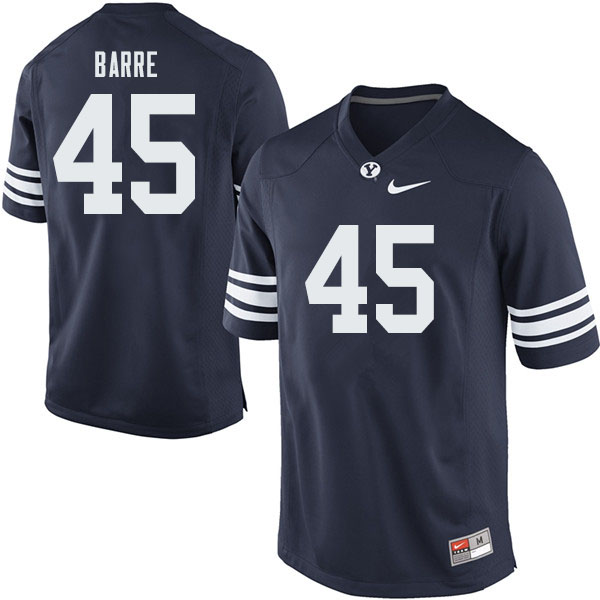 Men #45 Martin Barre BYU Cougars College Football Jerseys Sale-Navy