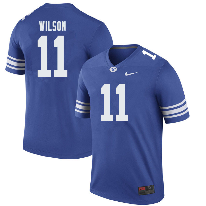 Men #11 Zach Wilson BYU Cougars College Football Jerseys Sale-Royal