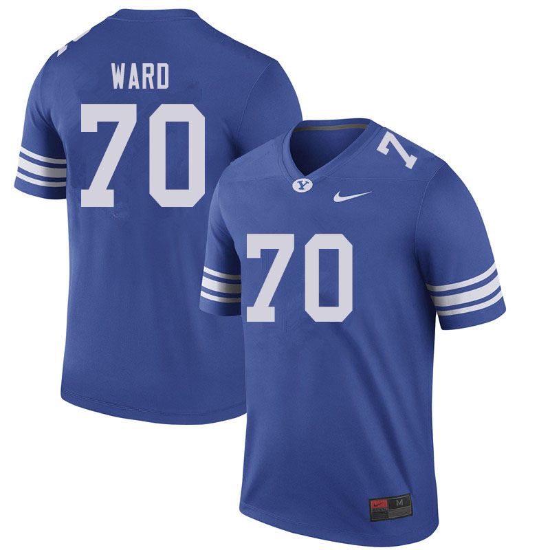 Men #70 Brevan Ward BYU Cougars College Football Jerseys Sale-Royal