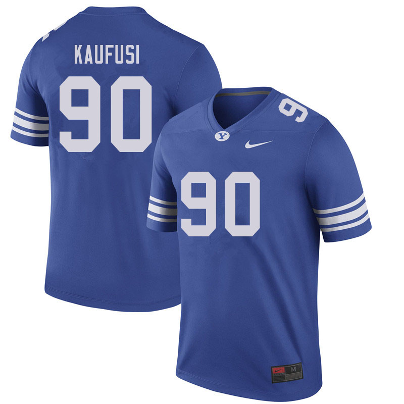 Men #90 Devin Kaufusi BYU Cougars College Football Jerseys Sale-Royal
