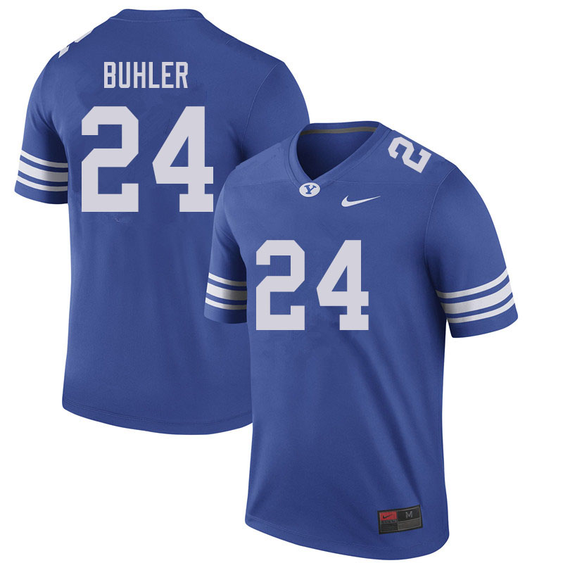 Men #24 Joshua Buhler BYU Cougars College Football Jerseys Sale-Royal