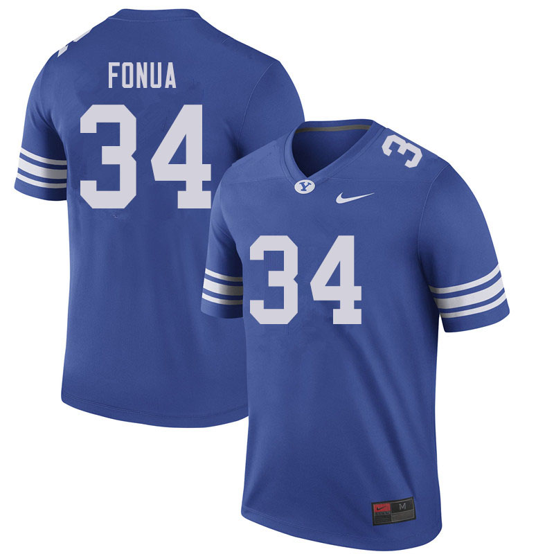 Men #34 Kavika Fonua BYU Cougars College Football Jerseys Sale-Royal
