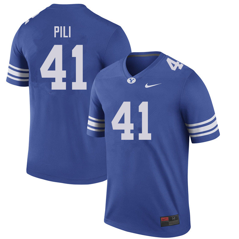 Men #41 Keenan Pili BYU Cougars College Football Jerseys Sale-Royal