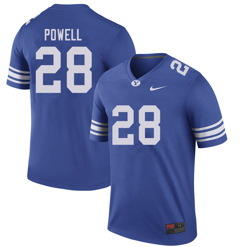 Men #28 Sawyer Powell BYU Cougars College Football Jerseys Sale-Royal