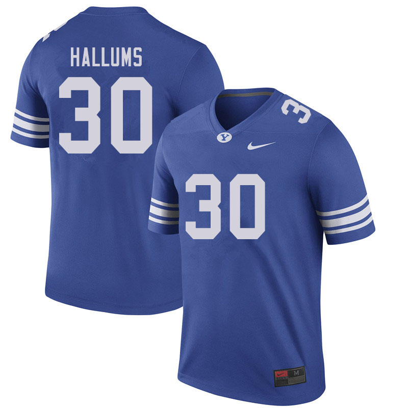 Men #30 Tamarick Hallums BYU Cougars College Football Jerseys Sale-Royal