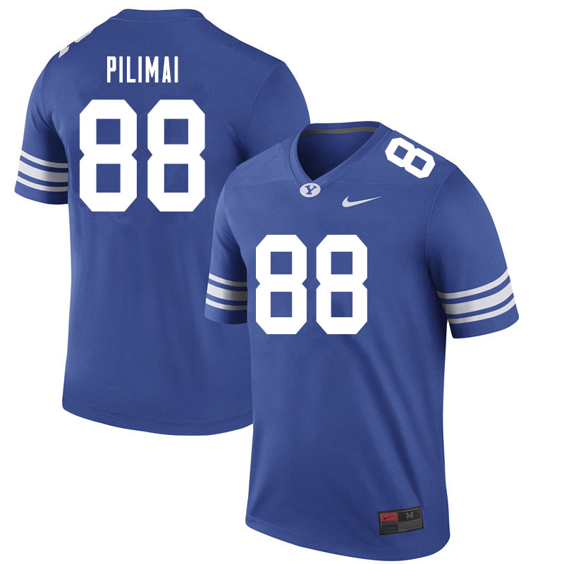 Men #88 Alema Pilimai BYU Cougars College Football Jerseys Sale-Royal