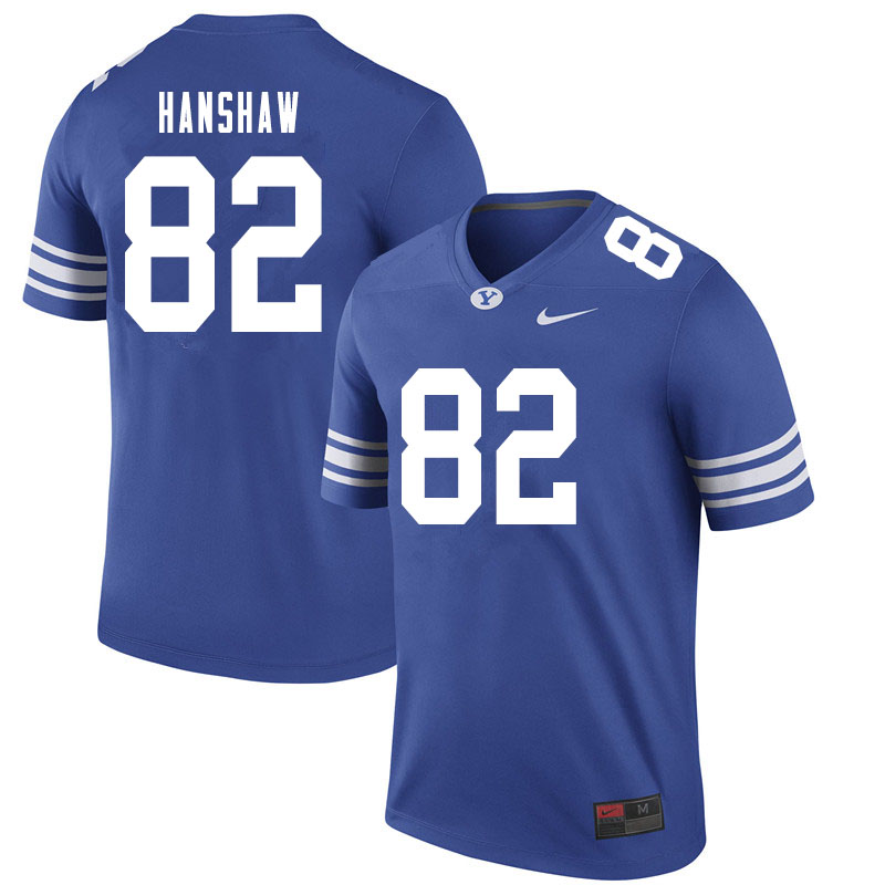 Men #82 Bentley Hanshaw BYU Cougars College Football Jerseys Sale-Royal
