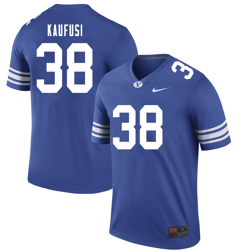 Men #38 Jackson Kaufusi BYU Cougars College Football Jerseys Sale-Royal