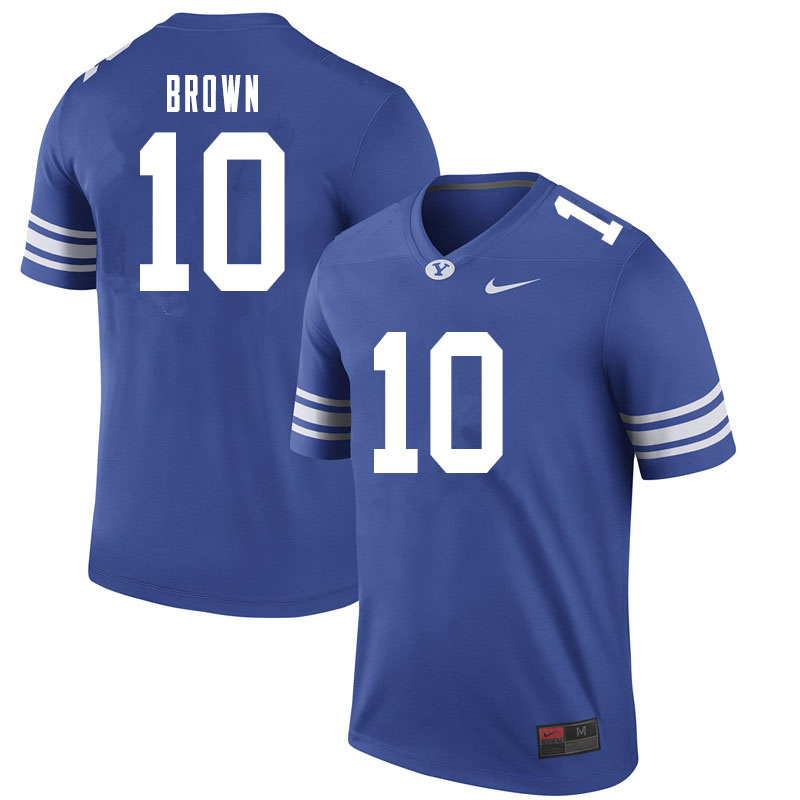 Men #10 Javelle Brown BYU Cougars College Football Jerseys Sale-Royal