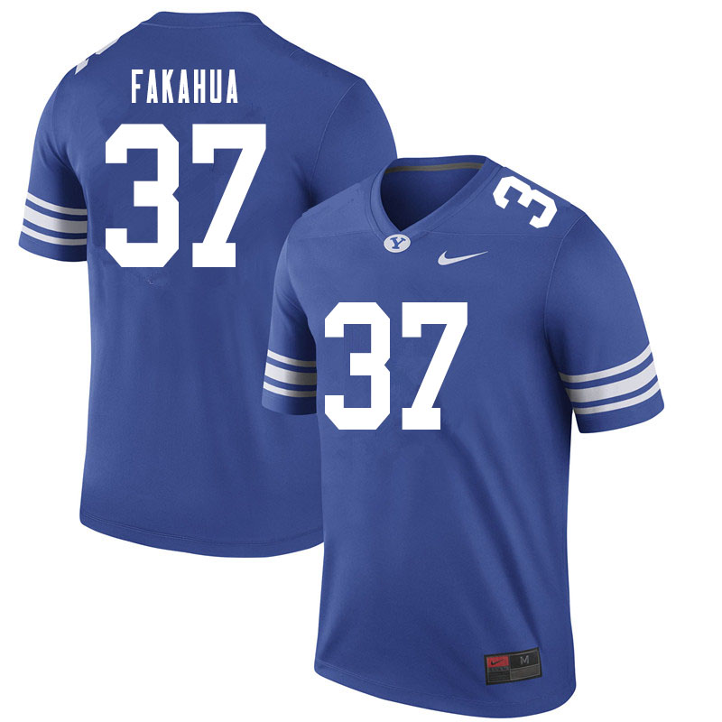 Men #37 Malakai Fakahua BYU Cougars College Football Jerseys Sale-Royal