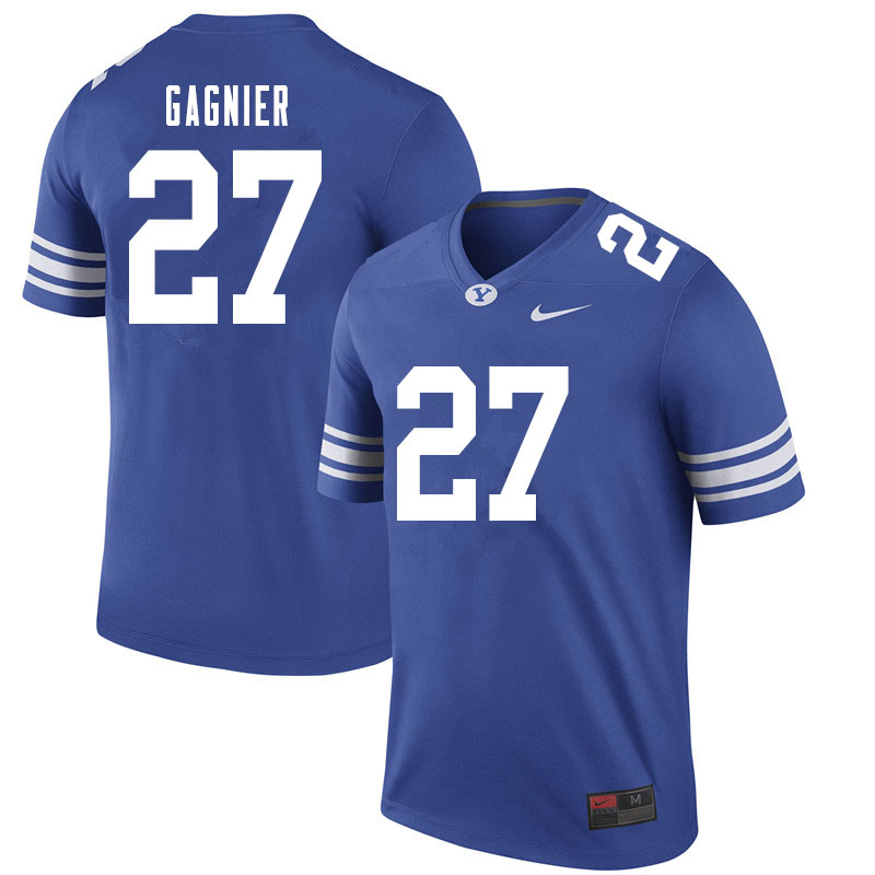 Men #27 Tavita Gagnier BYU Cougars College Football Jerseys Sale-Royal