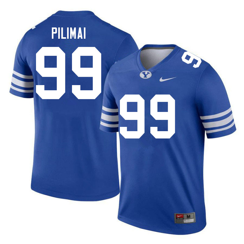 Men #99 Alema Pilimai BYU Cougars College Football Jerseys Sale-Royal