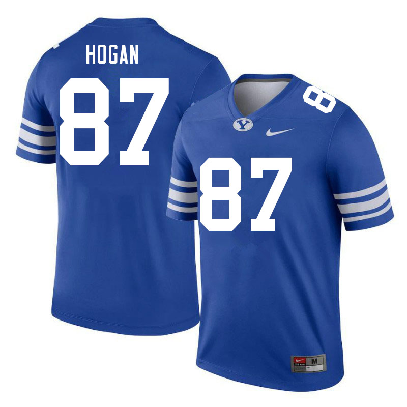Men #87 Britton Hogan BYU Cougars College Football Jerseys Sale-Royal