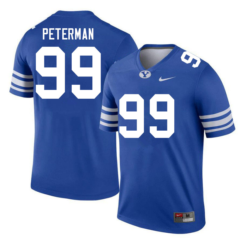 Men #99 Cash Peterman BYU Cougars College Football Jerseys Sale-Royal