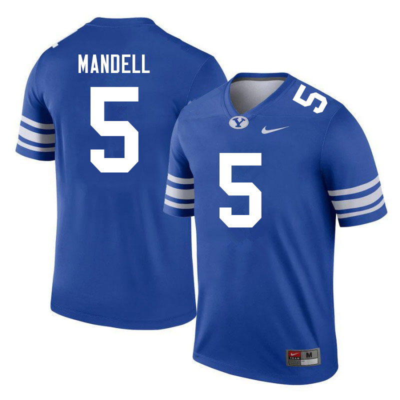 Men #5 D'Angelo Mandell BYU Cougars College Football Jerseys Sale-Royal
