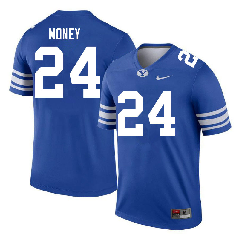 Men #24 Jason Money BYU Cougars College Football Jerseys Sale-Royal