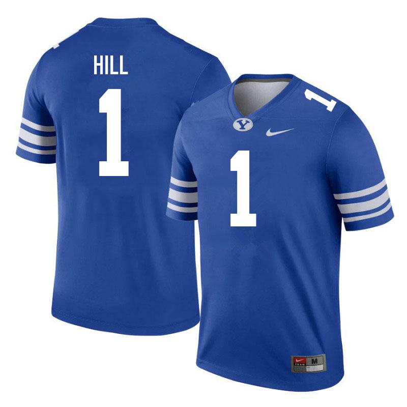 Men #1 Keanu Hill BYU Cougars College Football Jerseys Sale-Royal