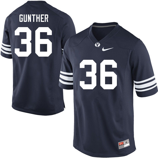 Men #36 Talmage Gunther BYU Cougars College Football Jerseys Sale-Navy