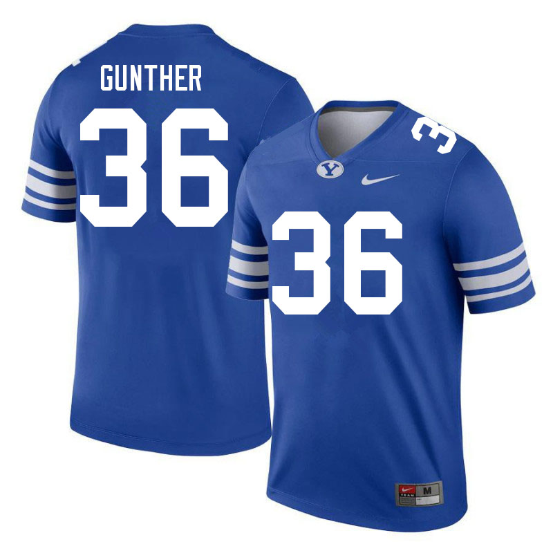 Men #36 Talmage Gunther BYU Cougars College Football Jerseys Sale-Royal