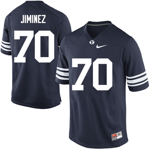 Men #70 Jacob Jiminez BYU Cougars College Football Jerseys Sale-Navy