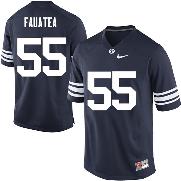 Men #55 Lorenzo Fauatea BYU Cougars College Football Jerseys Sale-Navy