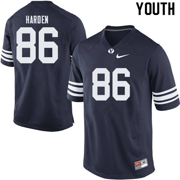 Youth #86 Joshua Harden BYU Cougars College Football Jerseys Sale-Navy