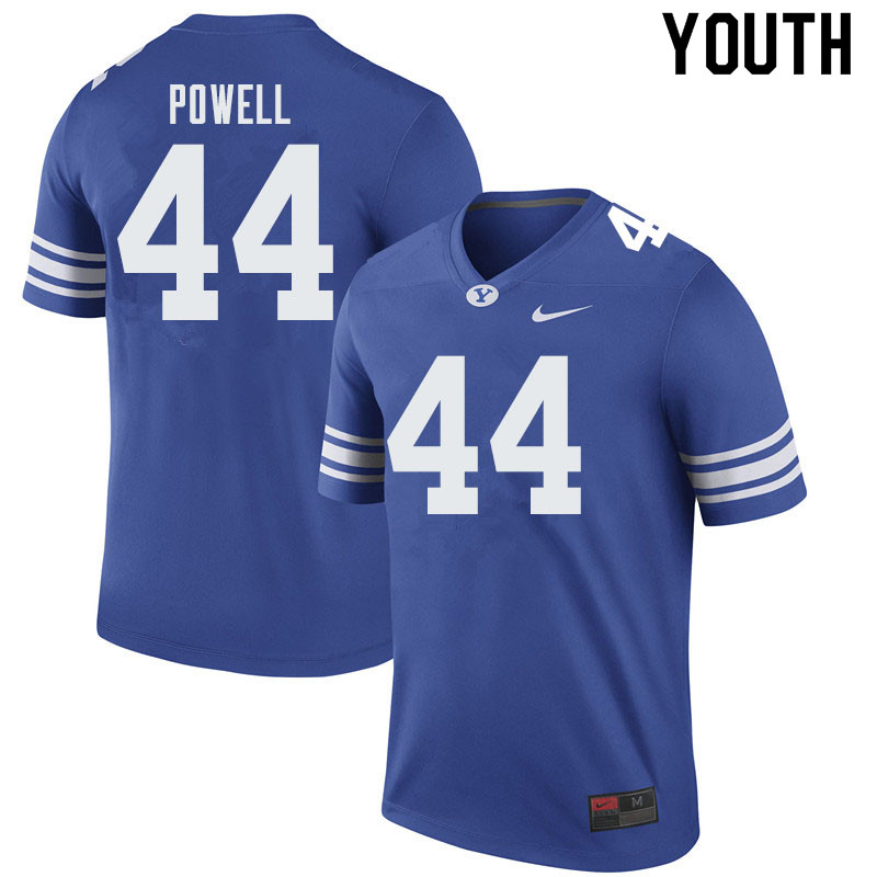 Youth #44 Riggs Powell BYU Cougars College Football Jerseys Sale-Royal