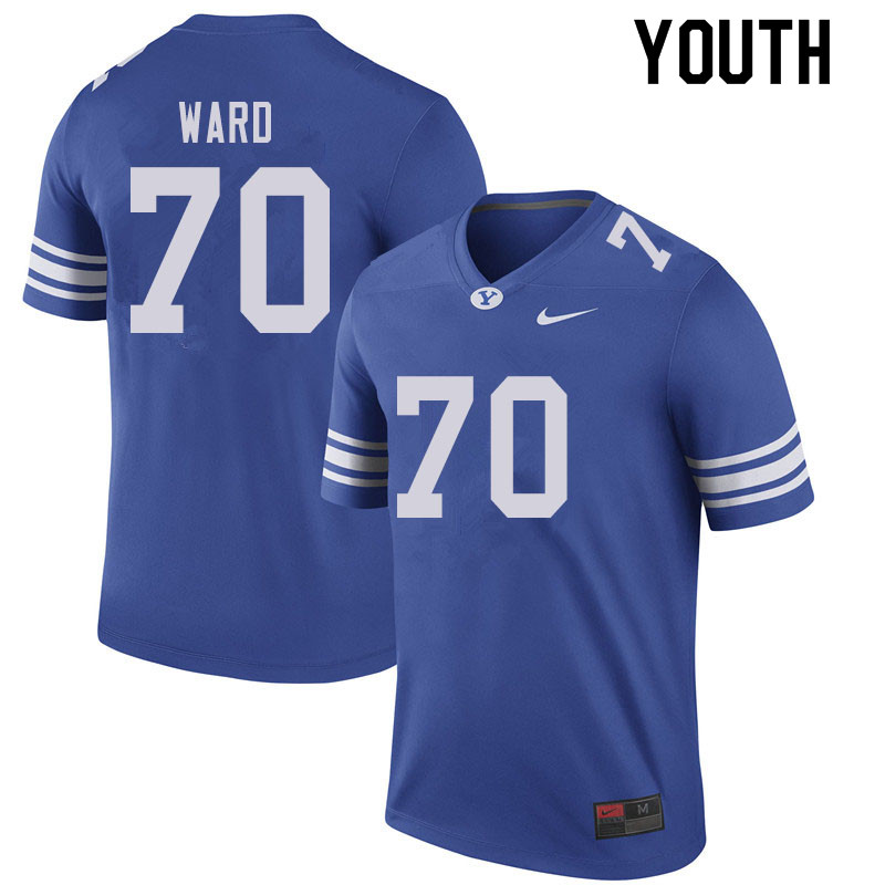 Youth #70 Brevan Ward BYU Cougars College Football Jerseys Sale-Royal