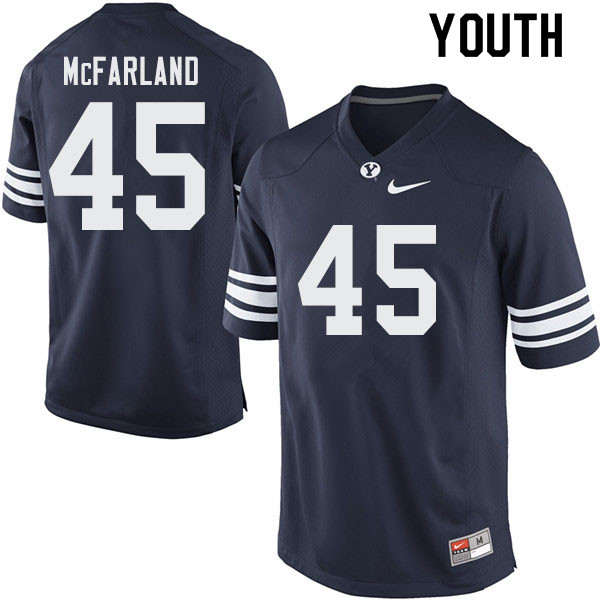 Youth #45 Darius McFarland BYU Cougars College Football Jerseys Sale-Navy